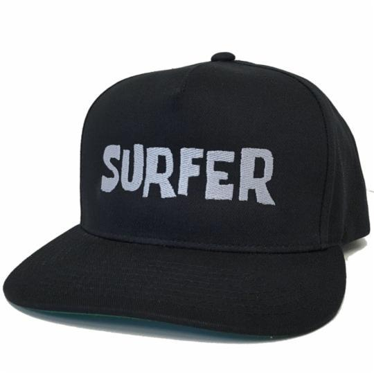 Black snap back hat with Silver Surfer OG logo embroidery