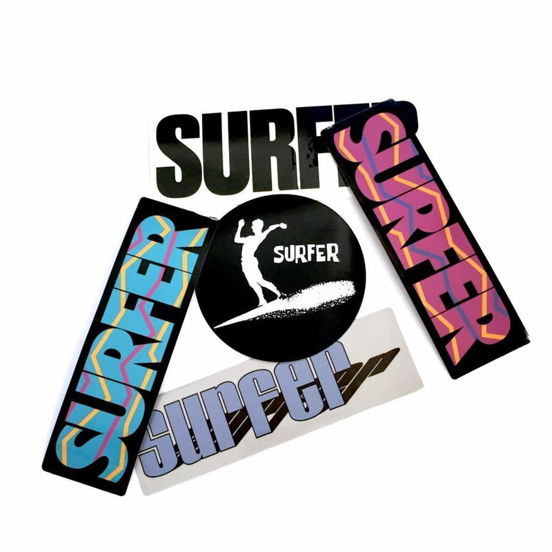 Collection of SURFER Magazine stickers