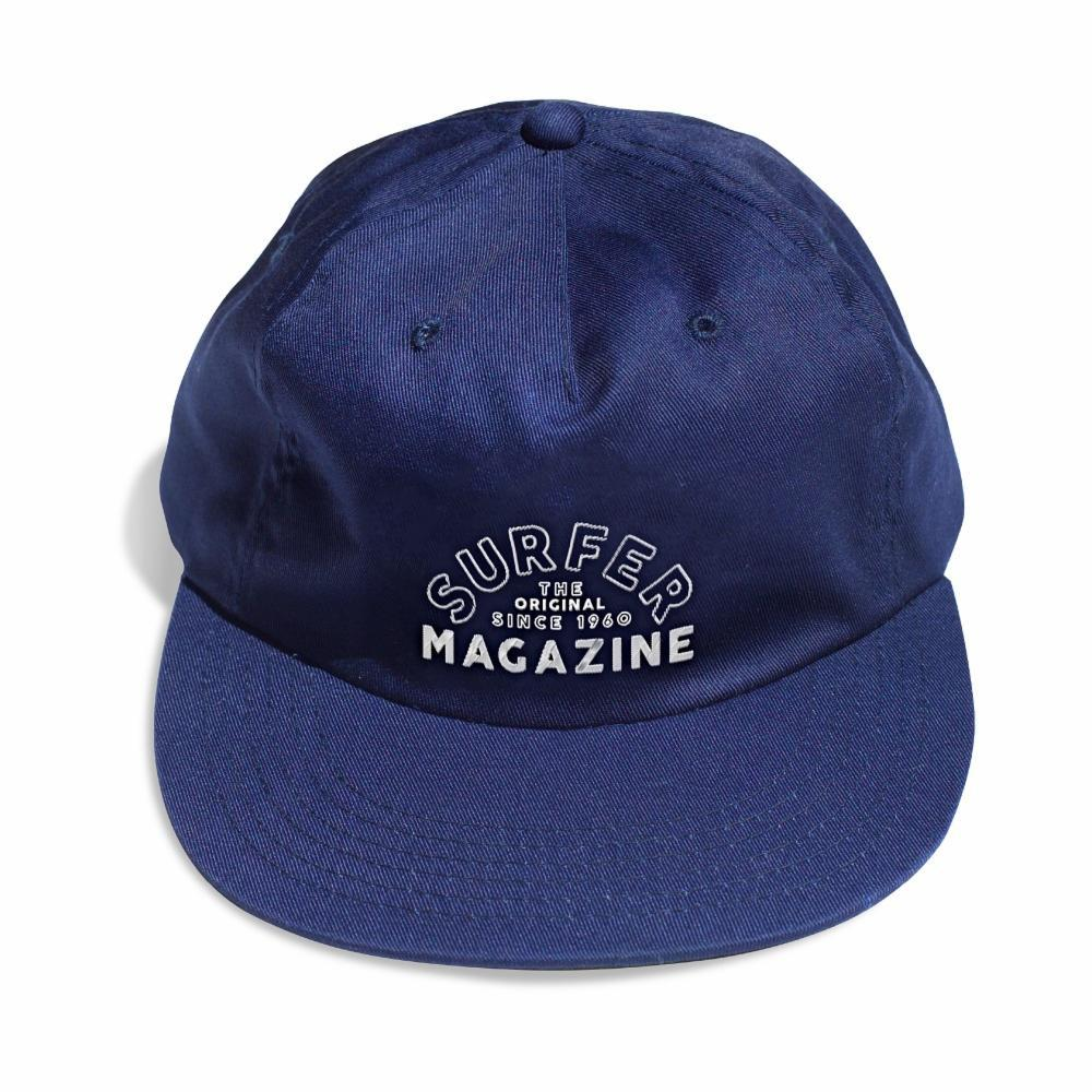 The Classic SURFER navy hat with white surfer magazine embroidery