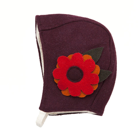 Flapper Girl Bonnet-Plum