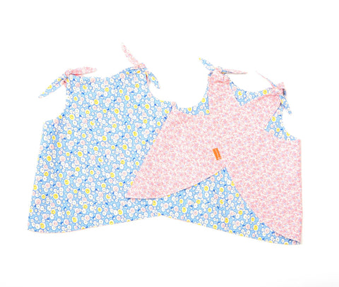 Reversible Smock Top: Bluebell