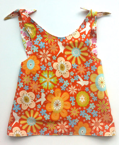 Reversible Smock Top: Zinnia