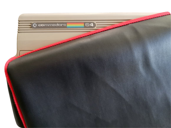 COMMODORE C64 BREADBIN - FAUX LEATHER BLACK DUST COVER - STYLISH - Retro Ready