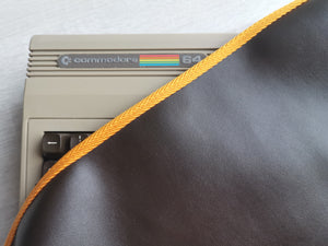COMMODORE C64 BREADBIN - FAUX LEATHER BROWN DUST COVER - STYLISH - LIMITED - RetroReady