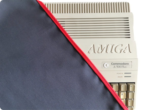 AMIGA 500 / AMIGA 500PLUS - COTTON CANVAS - GRAPHITE GREY - DUST COVER - STYLISH - RetroReady