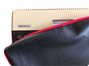 ATARI 800XL - Faux Leather BLACK Dust Cover - Stylish - Retro Ready