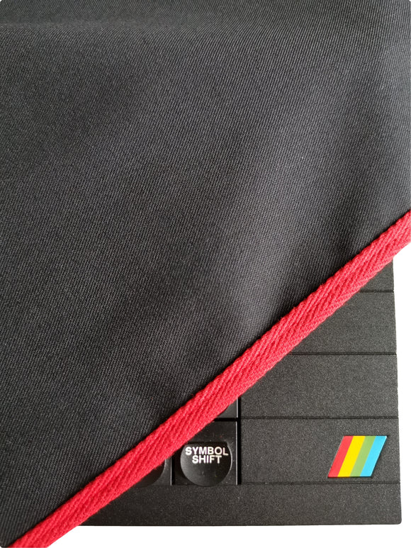 ZX SPECTRUM 48K PLUS - COTTON CANVAS - TRAFFIC BLACK - DUST COVER - STYLISH - RetroReady