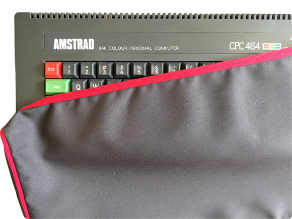 AMSTRAD CPC 464 - COTTON CANVAS - GRAPHITE GREY - DUST COVER - STYLISH - Retro Ready