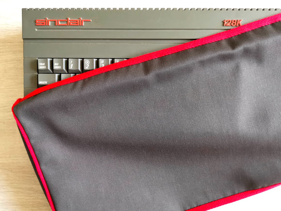 ZX SPECTRUM 128K +2 GREY/BLACK - COTTON CANVAS - GRAPHITE GREY - DUST COVER - STYLISH - RetroReady