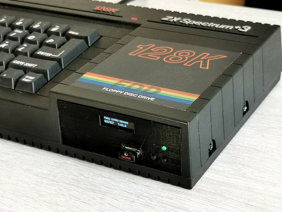 ZX SPECTRUM 128 +3 GOTEK - 3D PRINTED MOUNT - OLED DISPLAY - FLASH FLOPPY - Retro Ready