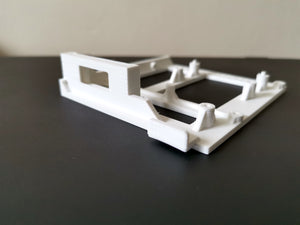 Amiga 600 / 1200 Gotek Bracket,  OLED Window Display – White - RetroReady