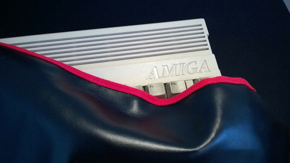 Amiga 600 Faux Leather BLACK Dust Cover - Stylish - RetroReady