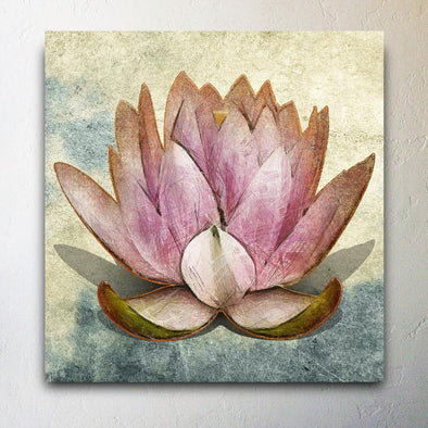 Pink Lotus  Studio Canvas Giclee Painting