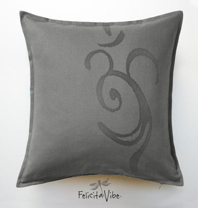 """OM Shadow"" 20X20 Throw Pillow Cover."