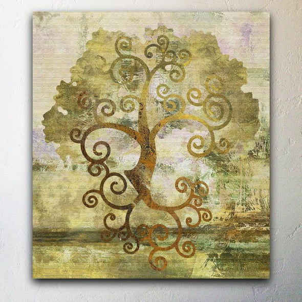 "Tree of Life"" Abstract Canvas Giclee Painting"