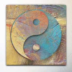 Abstract Yin Yang Canvas Giclee Painting
