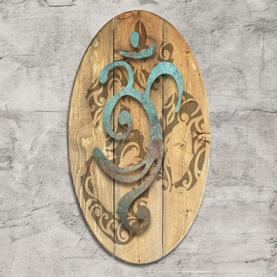 OM Metal & Wood Dimensional Wall Art