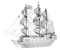 Metal Earth Pirate Ship Black Pearl, 2 sheets