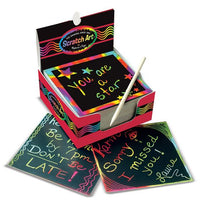 Rainbow Mini Scratch Art Note Cube
