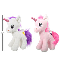 "Cuddly Buddy 12"" Unicorn Plush, 2"