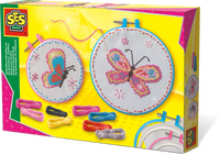 SES, Butterflies embroidery set Ages 6 to 12