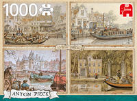 1000pc Puzzle - Anton Pieck - Canal Boats