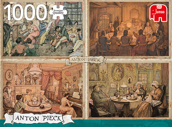 1000pc Puzzle - Anton Pieck - Living Room Entertainment