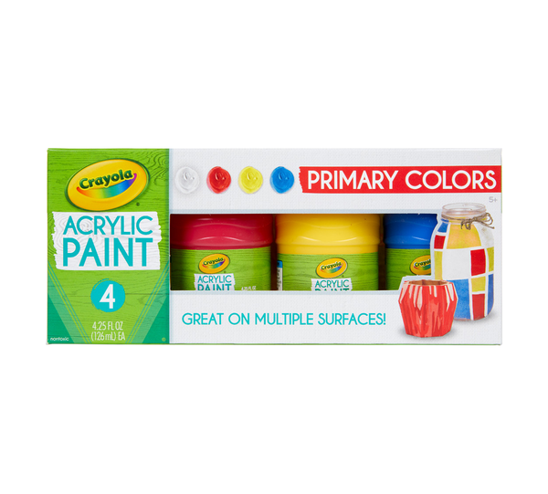 Crayola Acrylic Paint - Primary Colours