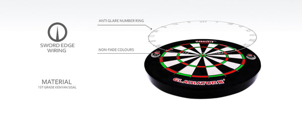 One80 Gladiator 3 Plus Dartboard - Free Canada Shipping