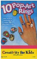 10 Pop-Art Rings - Ages 7 to 12