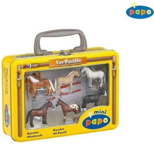 Papo Mini Horses Figurines (Tin Case)