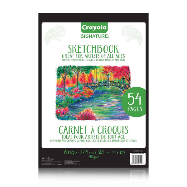 Crayola Signature Sketchbook 54 pages (9x12)