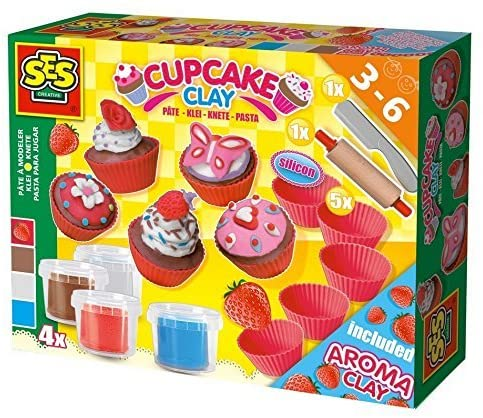 SES, Super clay - Cupcakes - Ages 3 to 8