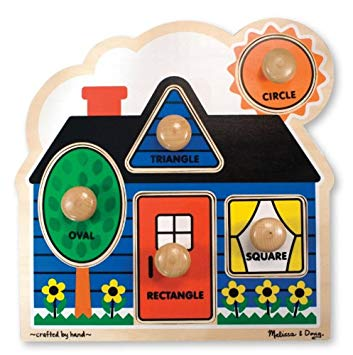 First Shapes Large Peg Puzzle