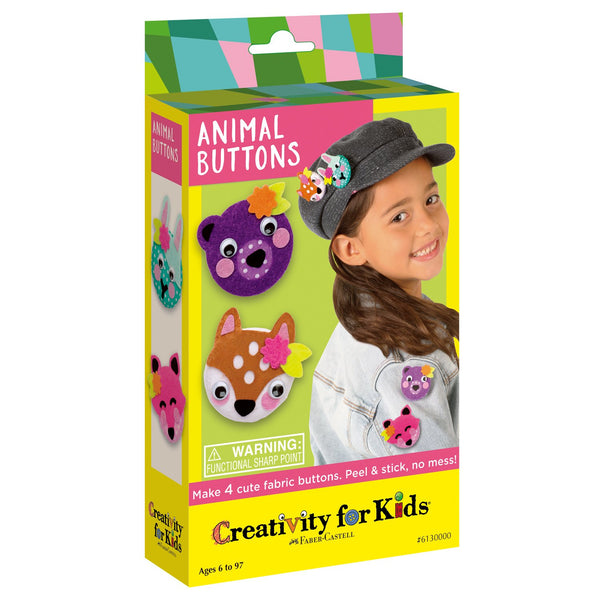 Animal Buttons - Ages 6 to 12