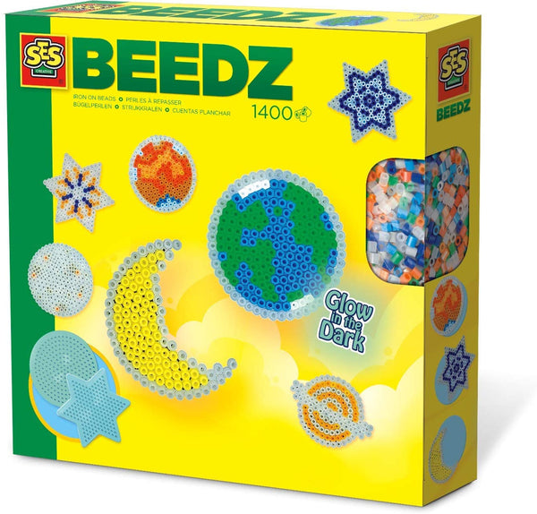 SES, Iron-on beads glow in dark stars - Ages 5 to 12