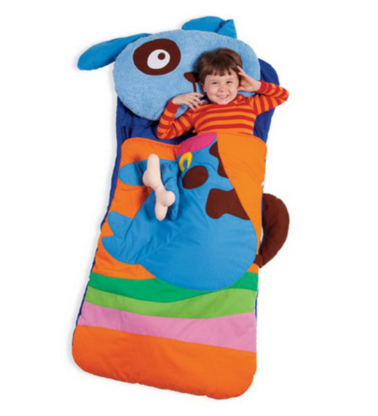 Sillies Sleeping Bag with Plush Pillow - Dog with Bone