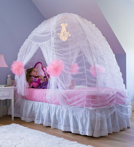 Fairy-Tale Bed Tent - White