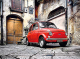 500pc Red Fiat Car 500 Puzzle