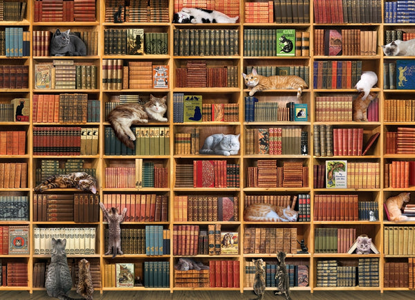 1000pc Puzzle Cobble Hill - The Cat Library