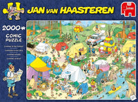 2000pc Jumbo Jan van Haasteren - Camping in the Forest