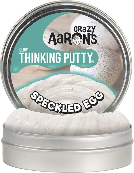 Crazy Aaron's Thinking Putty - Speckled Egg Glow Putty 4inch Tin