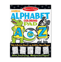 AnimalAlphabet Coloring Pad  A to Z
