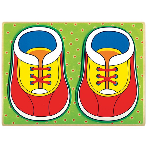 Little Moppet: Wooden Puzzel Shoe Laces
