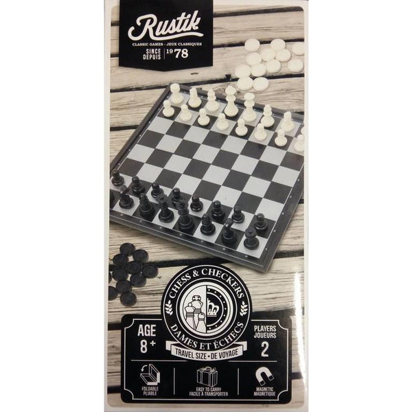 Rustik Magnetic Chess & Checkers