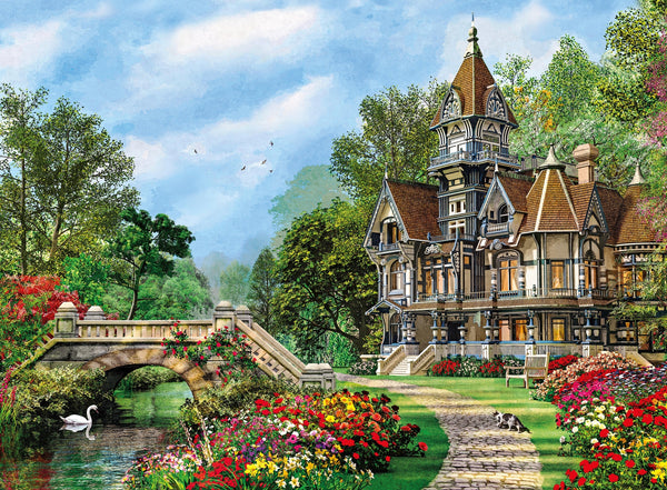 500pc Old Waterway Cottage Puzzle