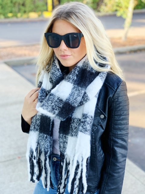 Sleigh Ride Blanket Scarf - 4 Colors