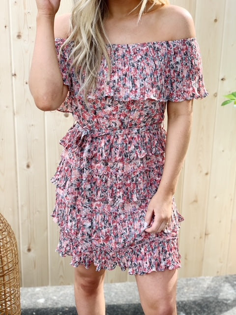 Enchanted Forest Floral Dress - Rose