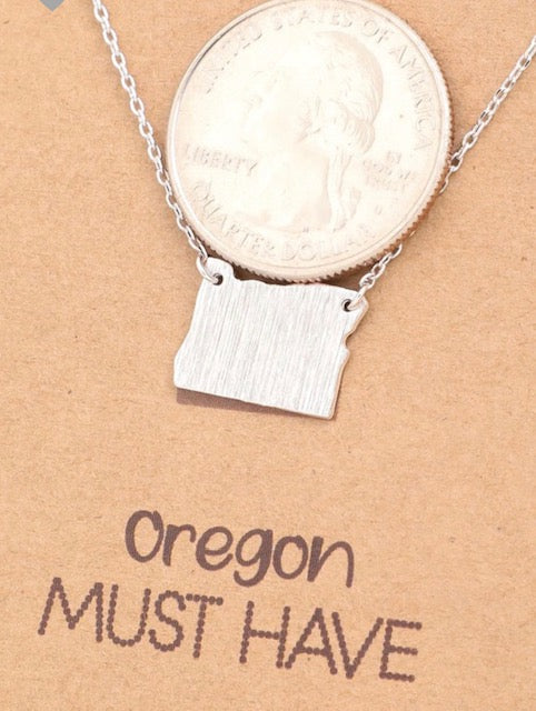Oregon Pendant - Gold/Silver