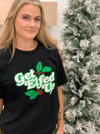 Elfed Up Tee - Black